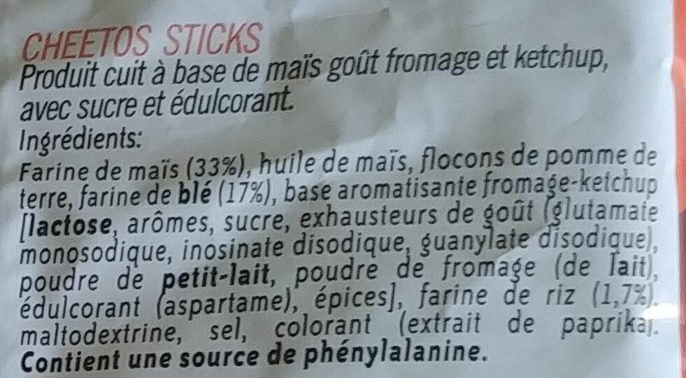 Sticks - Ingrédients