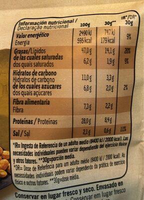 Cacahuetes al horno - Información nutricional - fr