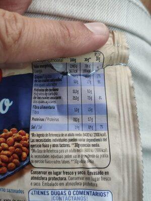 Cacahuetes al horno con Sal y Miel - Informació nutricional - fr