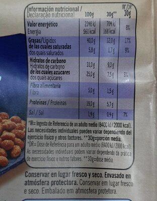 Cacahuetes al horno con Sal y Miel - Informació nutricional