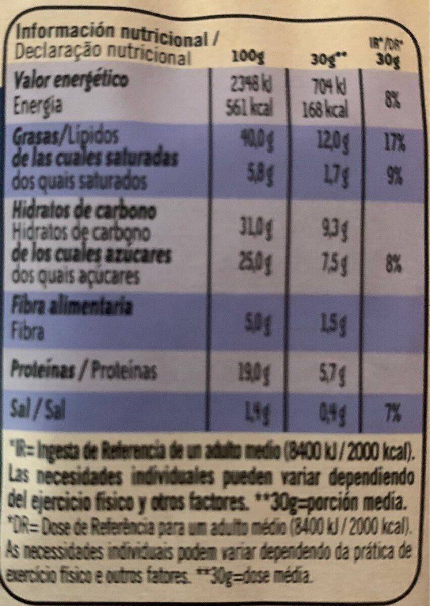Cacahuetes tostados al horno sal y miel bolsa 150 g - Voedingswaarden - fr