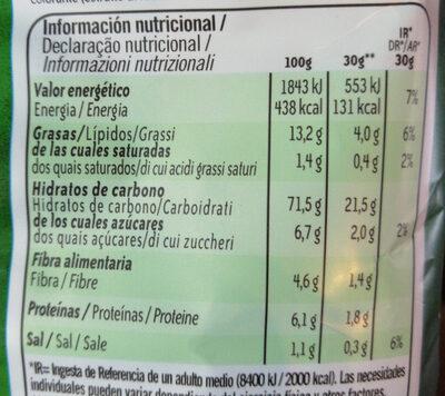 Horno patatas fritas Receta Campesina bolsa 130 g - Informació nutricional - es