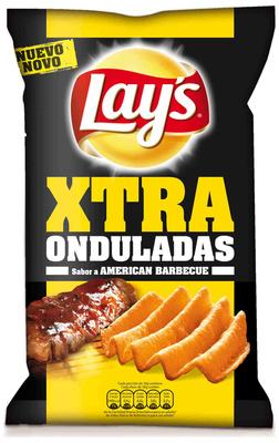 """Patatas fritas onduladas """"Lay's XTRA Onduladas"""" Sabor American Barbacue - Producte"""