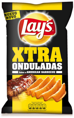 "Patatas fritas onduladas ""Lay's XTRA Onduladas"" Sabor American Barbacue - Producto"