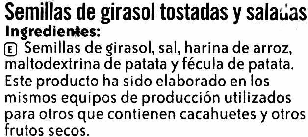 Matupipas con sal - Ingredients