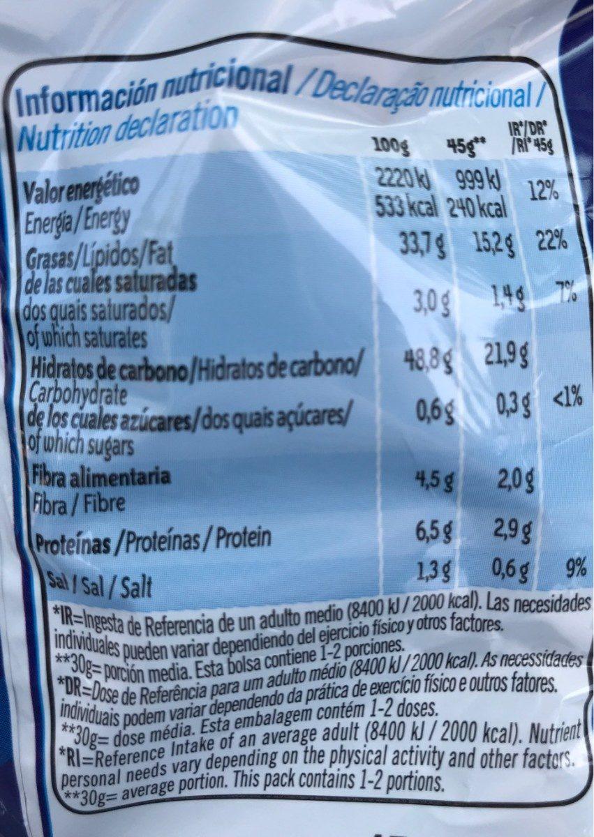 Patatas Ruffles Original Bolsa 45 g - Nutrition facts