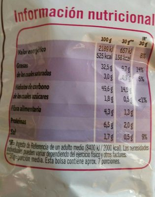 Ruffles sabords jamon - Nutrition facts