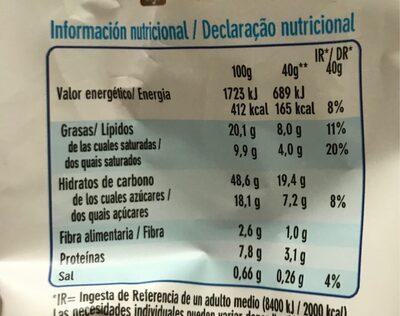 Chipicao - Información nutricional