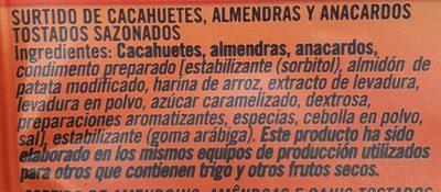 Matutano Cocktail Tostado Al Horno - Ingredients