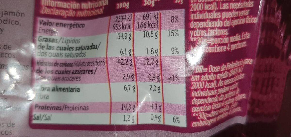 Mix cacahuetes, snacks de maiz y kikos sabor jamón envase 120 g - Product - fr