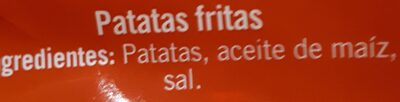 Patatas fritas sin gluten - Ingredients