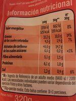 Patatas fritas sin gluten - Nutrition facts