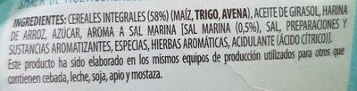 Snacks ondulados de multicereales al toque de sal - Ingrediënten - es