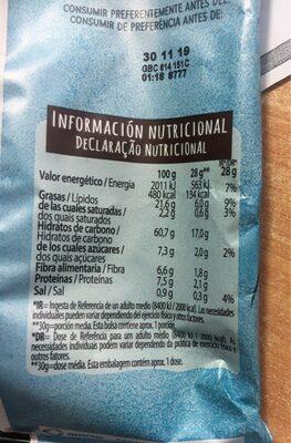 Snack multicereal - Informació nutricional - es