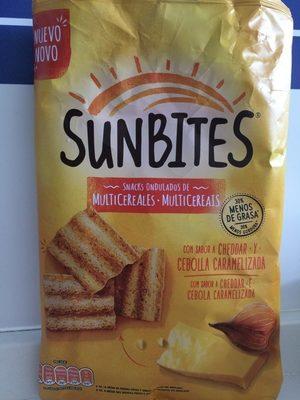 Snacks ondulados de multicereales con sabor a cheddar y cebolla caramelizada bolsa 95 g - Producto