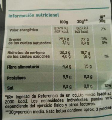 Doritos Chilli - Información nutricional