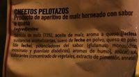 Cheetos pelotazos - Ingrédients