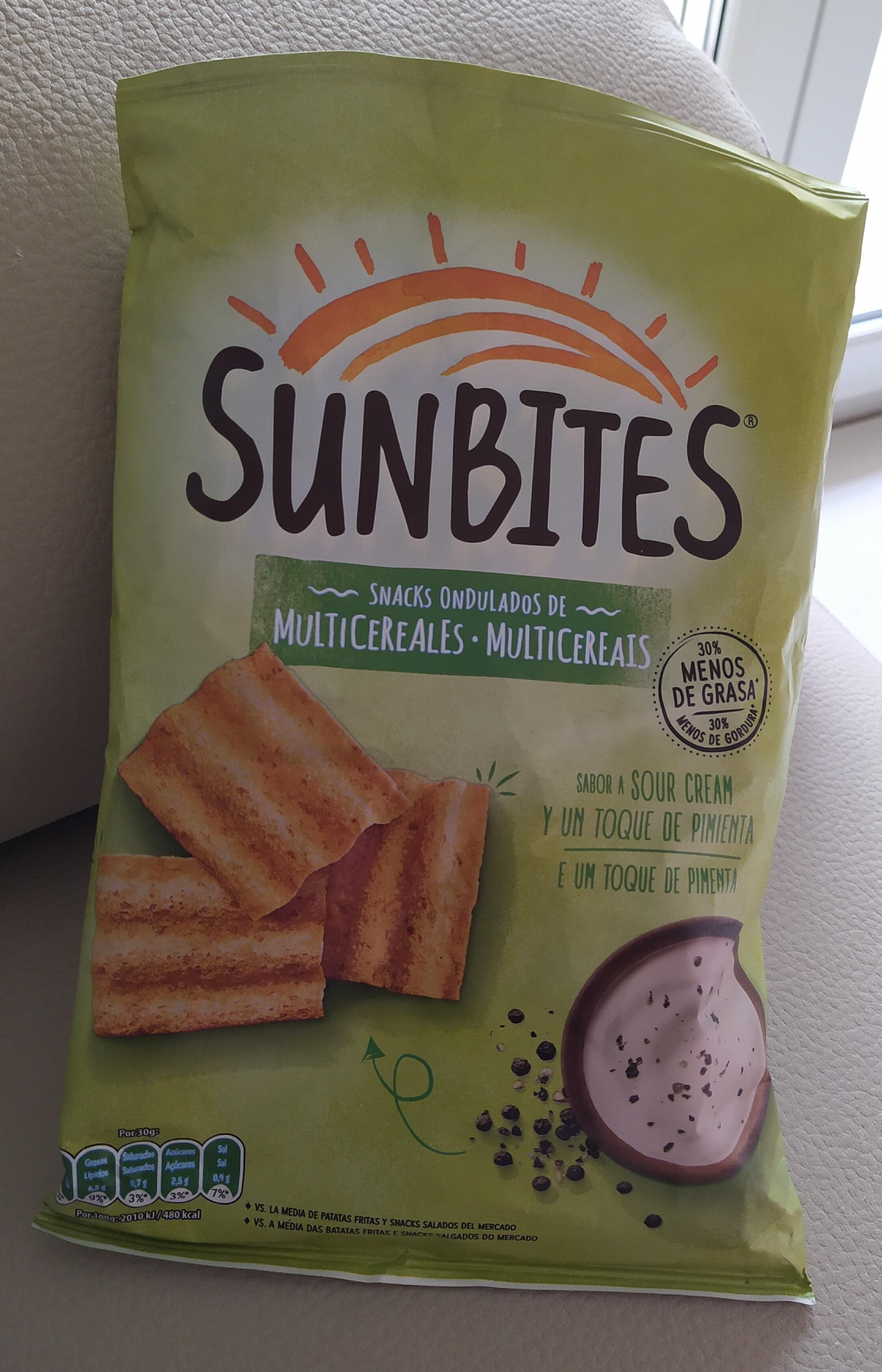 Snack ondulados de multicereales con sabor a sour cream - Product
