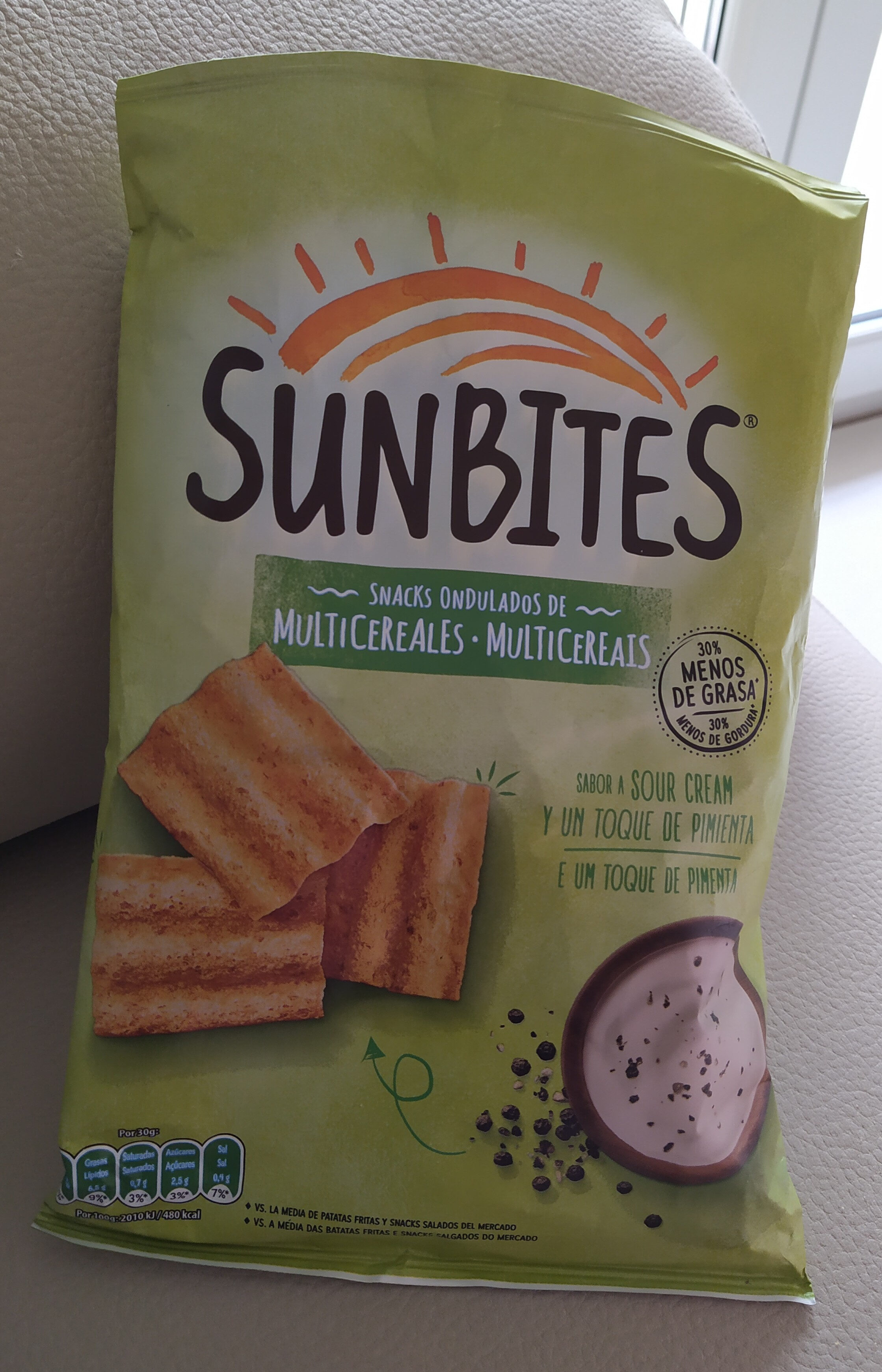Snack ondulados de multicereales con sabor a Sour Cream bolsa 95 g - Produto - es