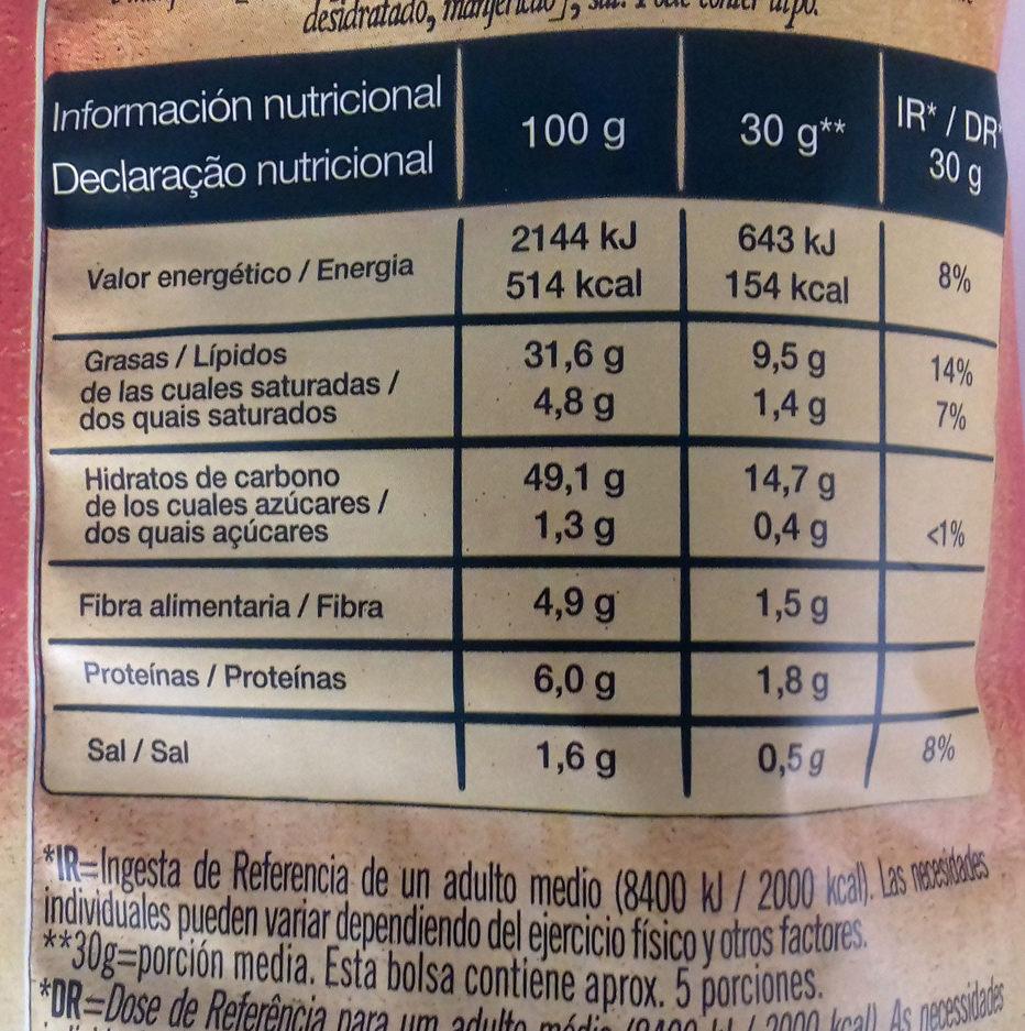 Patatas fritas mediterráneas infusionado con tomate y albahaca - Información nutricional - es