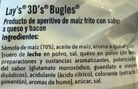 3D conos snack de maíz sabor original Sin Gluten bolsa 100 g - Ingredientes