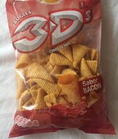 3D conos snack de maíz sabor bacon - Produit - es