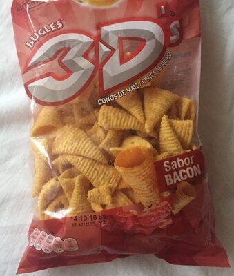 3D conos snack de maíz sabor bacon bolsa 100 g - Produit