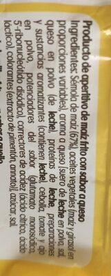 3D conos snack de maíz sabor queso bolsa 100 g - Ingrediënten - es