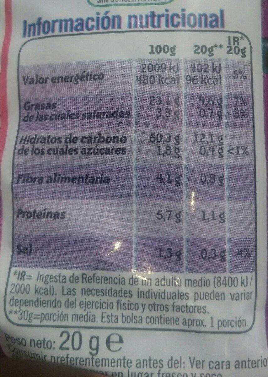 Pandilla - Información nutricional