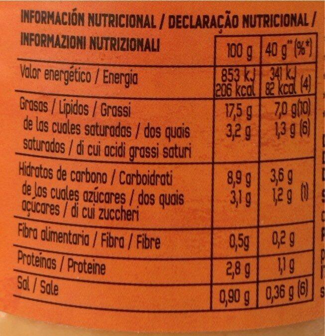 Nacho Cheese - Nutrition facts - es