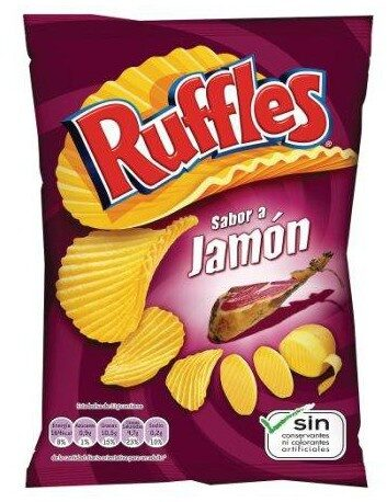 Patatas fritas sabor a jamón onduladas - Producte