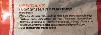 Rizos - Ingredients