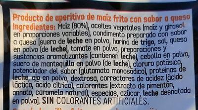Doritos Tex-mex - Ingredientes - es