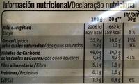 Patatas fritas - Informations nutritionnelles - es