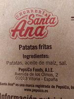 Patatas Fritas Santa Ana (pack 2X150G. ) - Ingredients