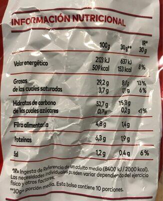 Lay's, Al Punto de Sal - Nutrition facts - es