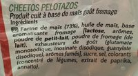 Cheetos Pelotazos - Ingredients
