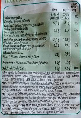 Pelotazos sabor a queso Sin Gluten bolsa 162 g - Información nutricional