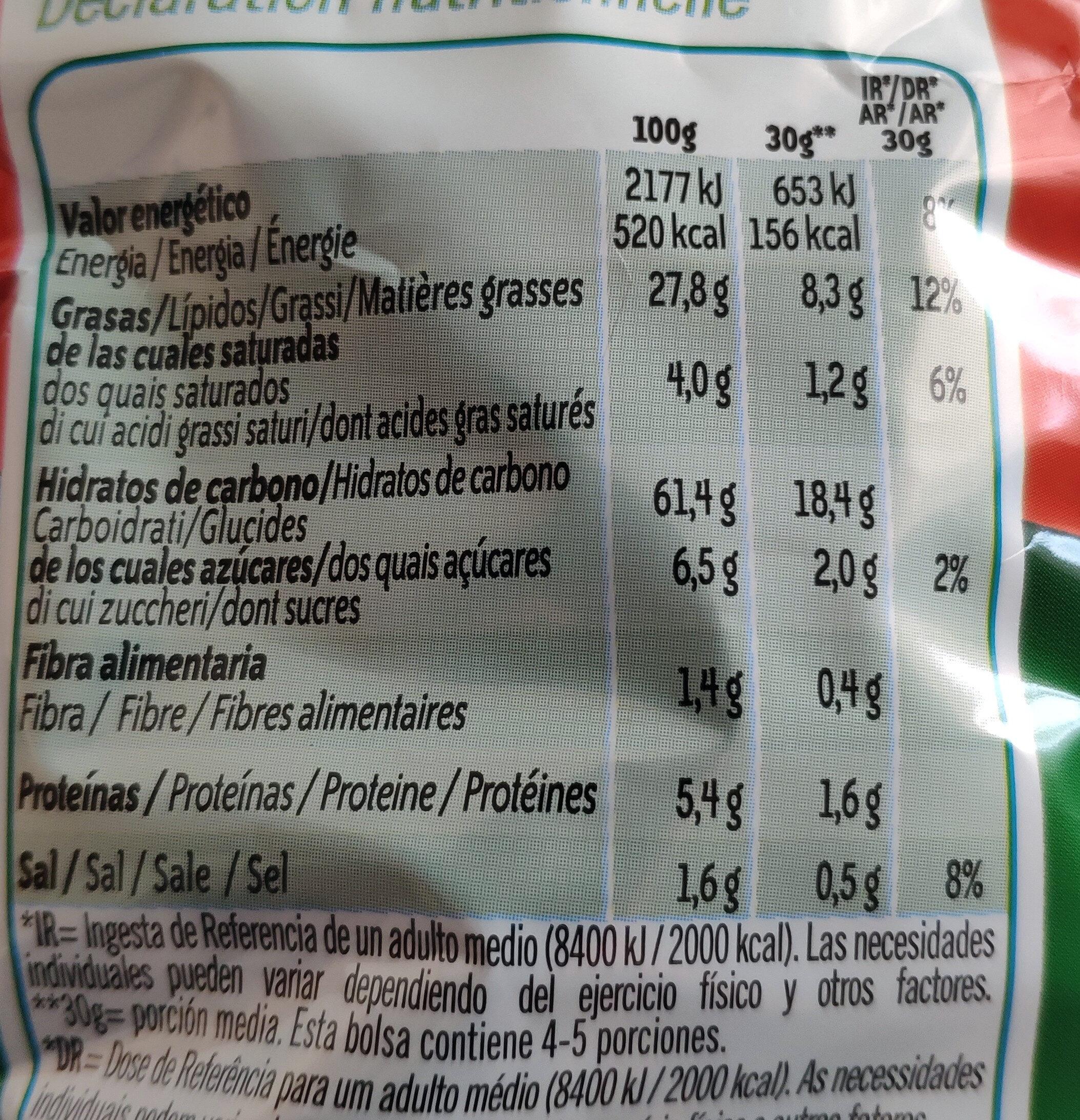 Pelotazos - Nutrition facts - es