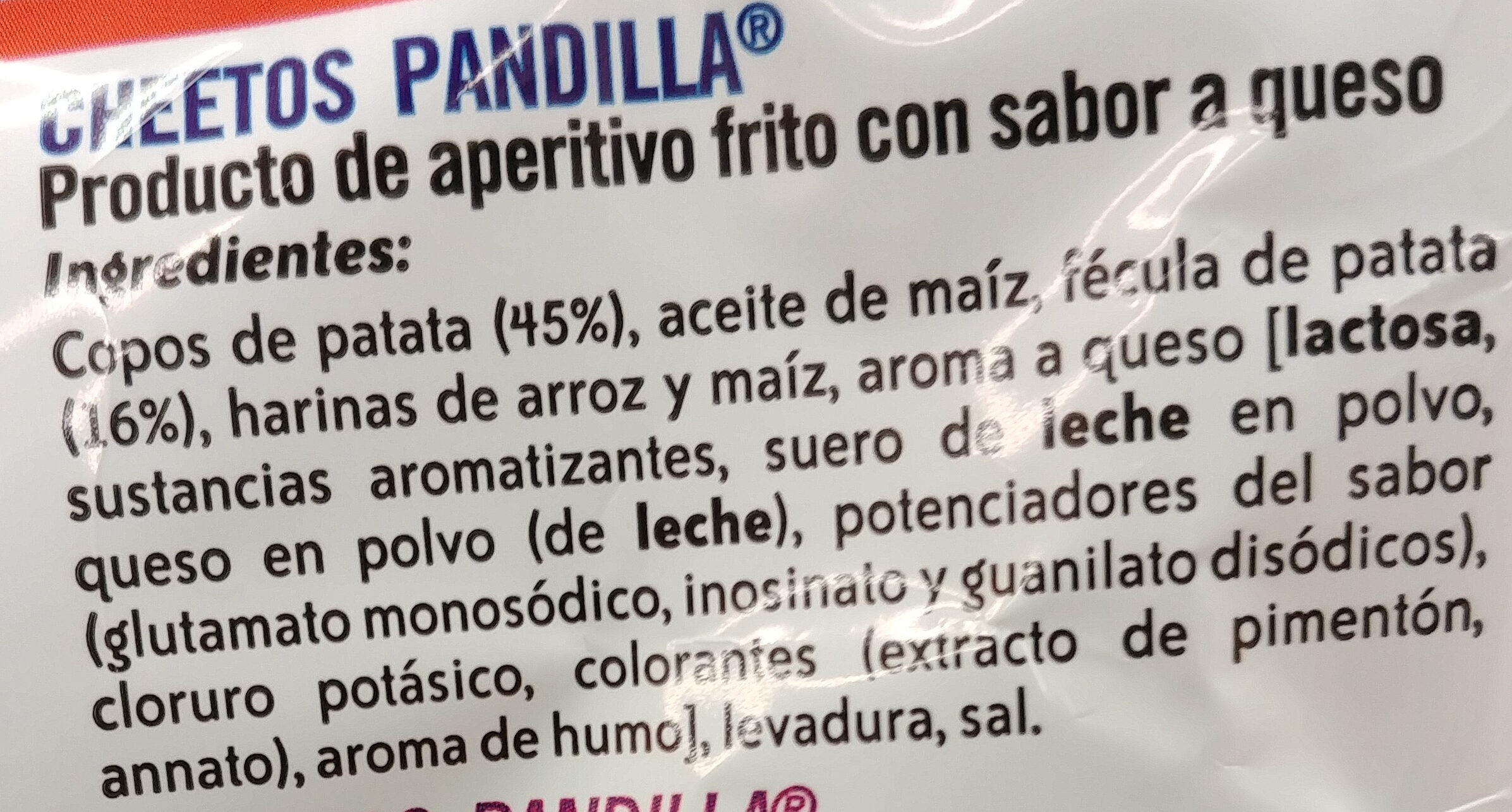 Snack pandilla sabor a queso sin gluten - Ingredients