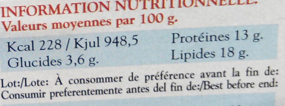 Calmars morceaux à l'encre - Nutrition facts