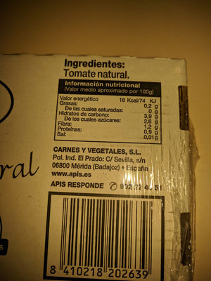 latass tomate mini apis - Ingredientes