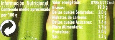 Paté vegetal de espárragos verdes - Informations nutritionnelles