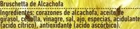 Bruschetta vegetal de alcachofas - Ingrédients - es