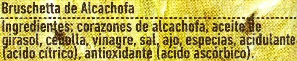 Bruschetta vegetal de alcachofas - Ingredientes - es