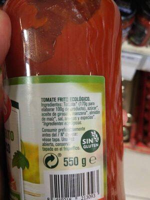 Tomate Frito Ecologico - Ingredientes - es