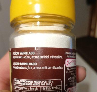Azucar Avainillado Vahiné - Ingrediënten - fr