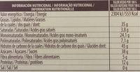 Turron Blando, tendre amandes - Información nutricional - fr