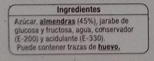 Figuritas de mazapan - Ingredientes