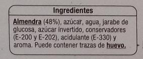 Mazapán de Soto - Ingredientes